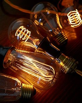 Decorative Filament Light Bulbs - I don't know if this is Gatsby-esque enough, but might work for some lighting accents?