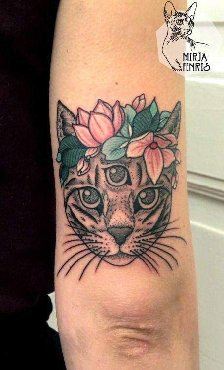 Mirja Fenris Magic Cat Eye Tattoo
