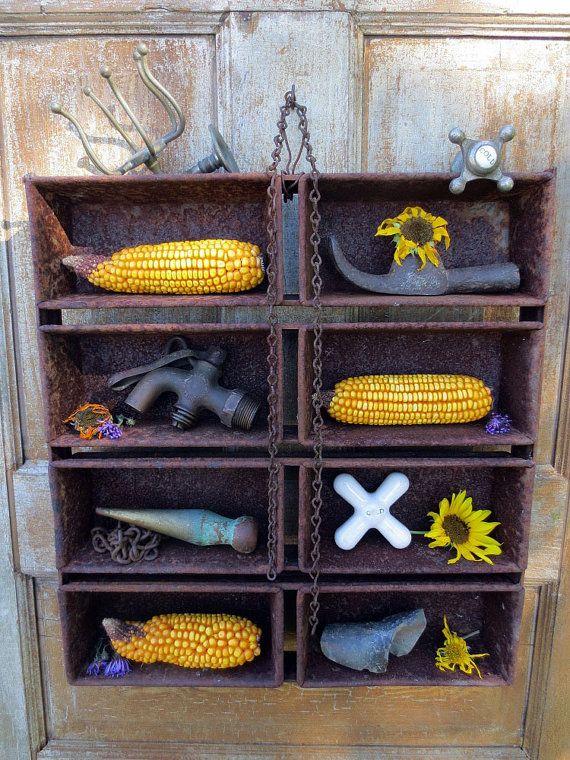 Industrial Chic WhatNot Shelf aka 1940's by themadprairietinker, $45.00