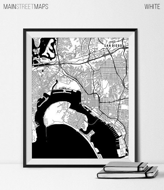 San Diego Map Art Print San Diego City Map of by MainStreetMaps https://www.etsy.com/listing/226998871/san-diego-map-art-print-san-diego-city?ref=shop_home_active_22