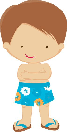 LITTLE BOY IN SWIMSUIT CLIP ART