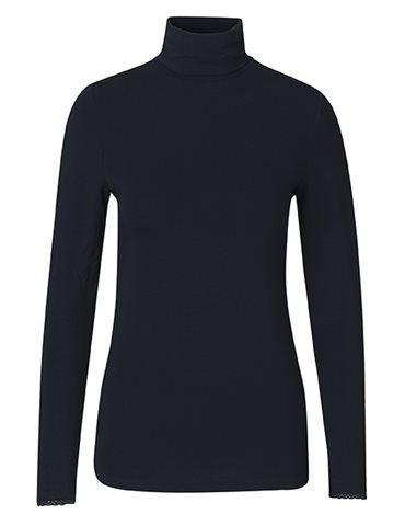 Højhalset T-shirt - Mørkeblå fra Noa Noa - str. M