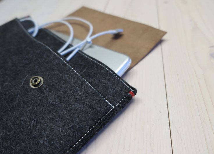 Classic Case has it all: Woolfelt / vegetable tanned leather and a large extra pocket.