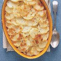 Cheesy Scalloped Potatoes...I make this every year and it is delicious.  You may substitute Swiss Cheese for the Gruyere to save some money, but why not splurge? :)