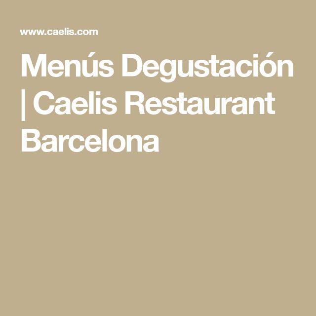 Menús Degustación | Caelis Restaurant Barcelona