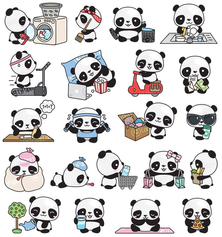 Кавайные картинки для срисовки животные панда