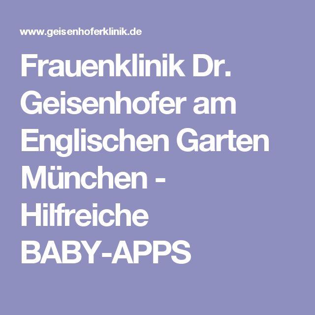 Popular Frauenklinik Dr Geisenhofer am Englischen Garten M nchen Hilfreiche BABY APPS