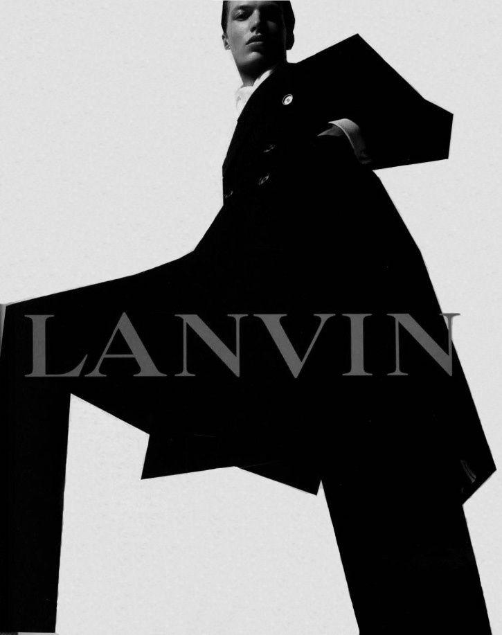 michael gandolfi by steven meisel for lanvin menswear fall 2002 campaign.