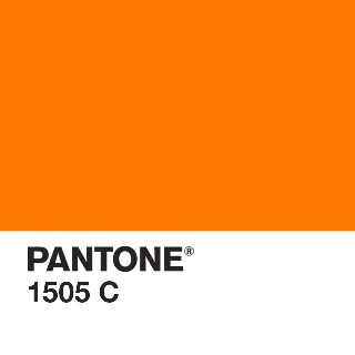 Whats your favourite colour..... Why Pantone 1505 of course!