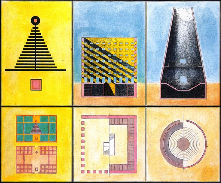 Aldo Rossi : Drawings for Modena Cemetery