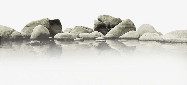 الماء والمواد الحجرية منظر ستون منظر Png وملف Psd للتحميل مجانا Stone Clip Art Image