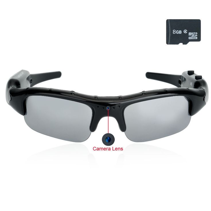 $39,Wiseup 8GB 1280x720 HD Spy Camera Eyewear Sunglasses DV Camcorder with Audio Recording Function - Spy Camera