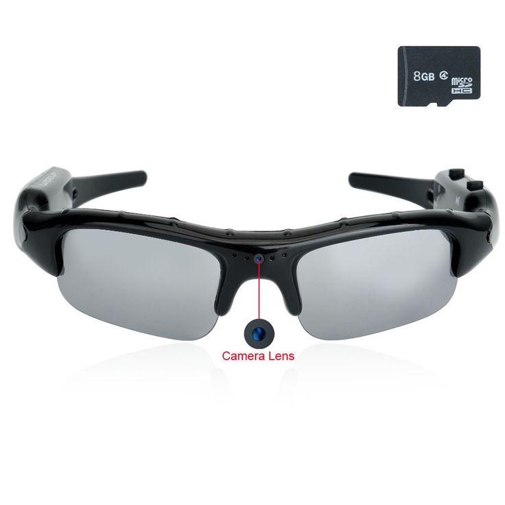 $39,Wiseup 8GB 1280x720 HD Spy Camera Eyewear Sunglasses DV Camcorder with Audio Recording Function - Spy Camera