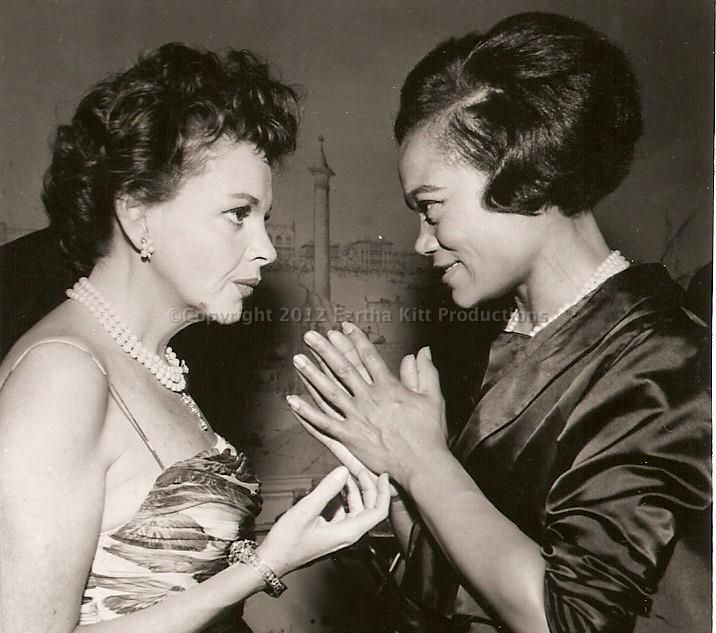 Two great legends! Judy Garland and Ertha Kitt