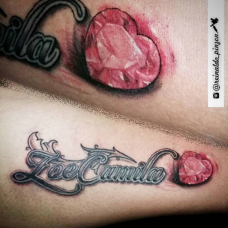 "Reinaldo Pinzon on Instagram: ""Uno mas para @georgejhair el nombre de su hija Zoe Camila con Diamante rojo #reinaldo_pinzon #tattoo #tatuaje #tatuajesenpanama #tatuajes507 #tattoo507 #tattoopty #diamante #red #rojo #intenzeink #inked #ink #like #followme #507 #panama #zoe #instalike #best"""
