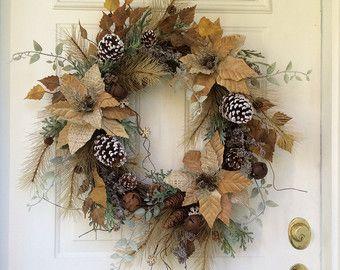Spring Wreath-Hydrangea Wreath-Spring Door by ReginasGarden