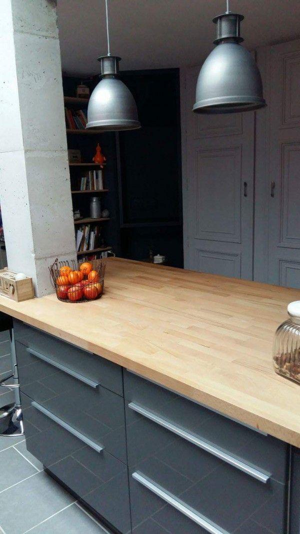 plan de travail bois clair dans la cuisine httpwwwhomelisty