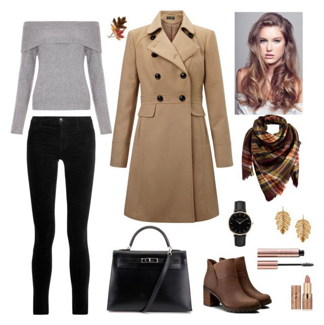 """Autumn's look"" by elina-fayzulina on Polyvore featuring мода, J Brand, New Look, Miss Selfridge, Peach Couture, Clarks, Hermès, Topshop, Anne Klein и Marika"