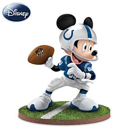 """Mickey Mouse Indianapolis Colts """"Quarterback Hero"""" Figurine #Colts #NFL"""