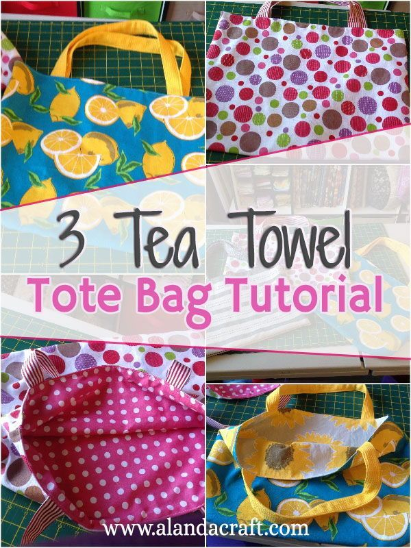 The 3 Tea Towel/Dish Towel Tote Bag Tutorial | THINGS TO SEW