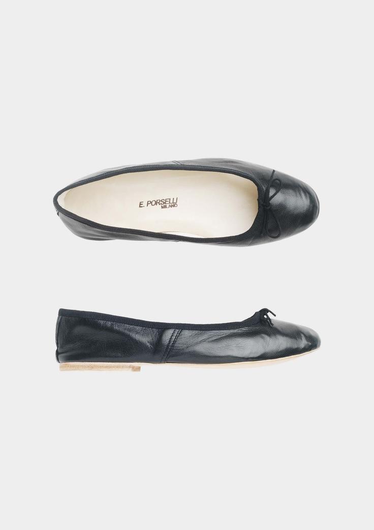 E. Porselli Milano black leather