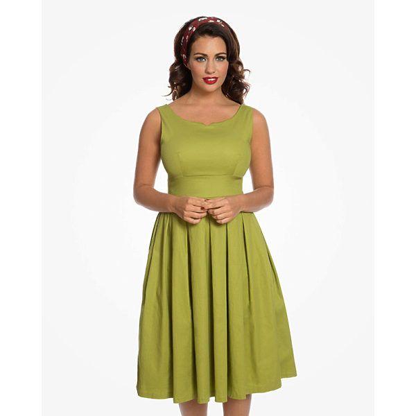Olivově zelené šaty Lindy Bop Felicia Krásné šaty v netradiční olivově  zelené barvě vhodné na svatby d979f68ab26