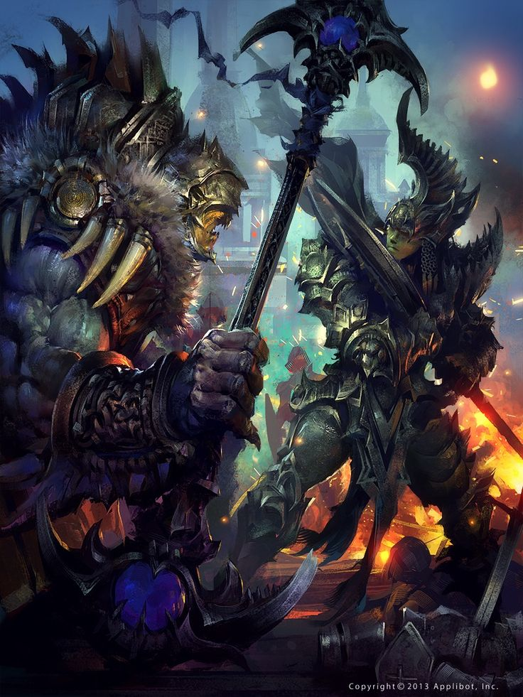 Guerrero Vs Orco Legend Of The Cryptids Cool Art