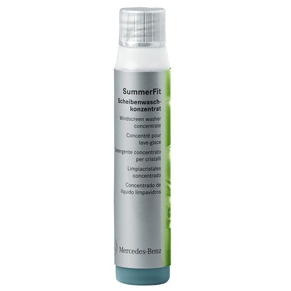 A001986807117  SummerFit Windscreen wash concentrate 40ml   - Cleans windscreen and windows of road grime in all weather conditions - removes dazzling films caused by drying, hot wax and preserver from the car wash rapidly and thoroughly - compatible with all the surfaces in its application area: paintwork, plastics, metal and rubber