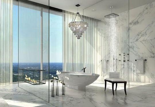 Yes please.: Bathroom Design, Gorgeous Bathroom, Luxury Bathroom, Modern Bathroom, The View, The Ocean, Dreams Bathroom, White Bathroom, Ocean View