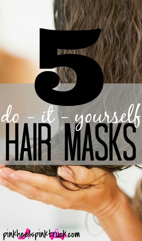 5 DIY Hair Masks - Personally I use number 2 once a week and I also try to use a apple cider vinegar rinse. I use an almost empty conditioner bottle put in 1/3 cup of cider vinegar fill the rest of the way with water! Shake!