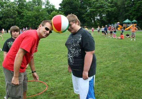 Beach Ball Relay Games | ... swim' relay during the school's recent Game Day event