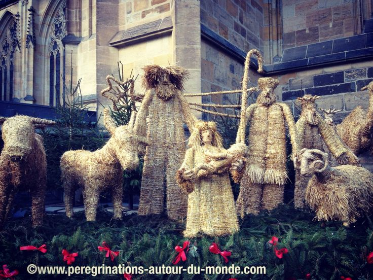 Crèche devant la Cathédrale Saint Guy (Prague).