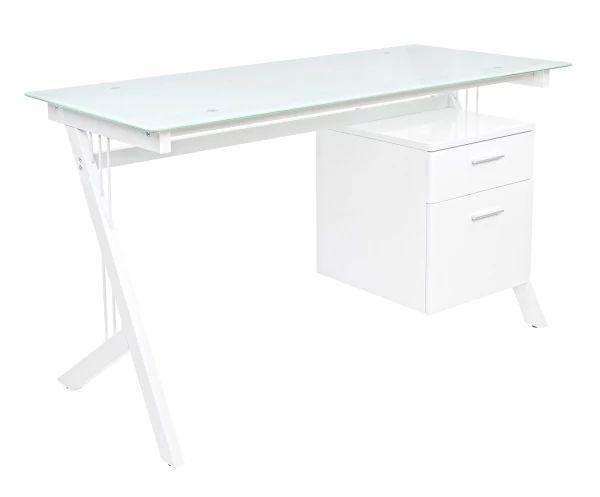 Стол офисный Scarlett - металл - белый, 130х60 см