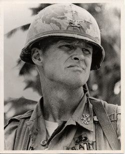 "LT. COL. HAL MOORE  AFTER THE BATTLE OF LA DRANG Just before we left, we stood looking at each other … and the tears were coming down our cheeks. I told Joe, ""I want you to go back to Saigon and tell the American people what great Soldiers these are. Tell them what a great job they did and what a great Army we have"