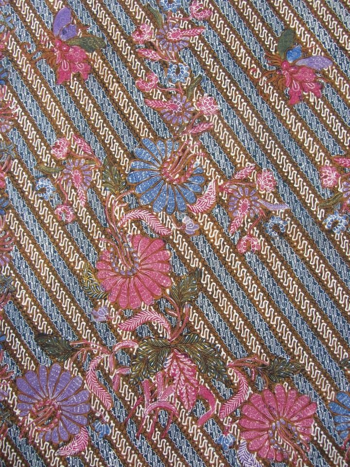 Adik Bayi batik pattern. Processed by combination handrawn and stamped. Vintage Indonesian batik