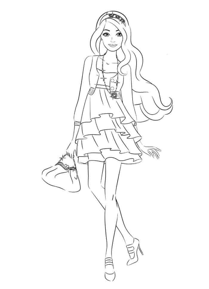 Barbie Fashion Coloring Pages Barbie Coloring Pages Mermaid Coloring Pages Cartoon Coloring Pages
