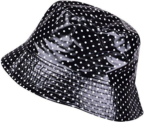 0007f324592 ORSKY Packable Waterproof Bucket Hat Polka Dot Wide Brim Rain Hats For  Women Girls Quality Material