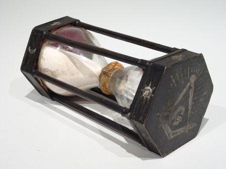 Sablier maçonnique datable vers 1750 - Sabliers de collection - Antiquité Delalande