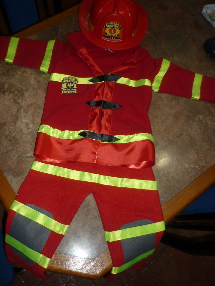Disfraz de bombero para ni o ideas para el hogar pinterest - Traje de duende para nino ...