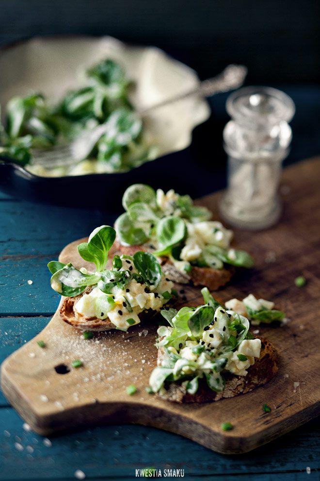 Pasta jajeczna - Przepis: Pasta Recipes, Restaurant Recipes, Pickled Cucumber, Eggs Salad Sandwiches, Secret Recipes, Lipton Recipes, Eggs Pasta, Recipes Secret, Cucumber Sandwiches