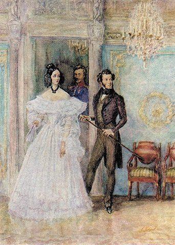 Наталья Гончарова и Александр Пушкин