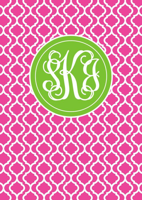 Monogram Binder Cover & spine Quatrefoil Personalised Monogram Printable Binder Cover Monogram Stationery Preppy Back to School Chevron Purchase here:https://www.etsy.com/au/listing/178464003/monogram-binder-cover-spine-quatrefoil?ref=shop_home_active_1