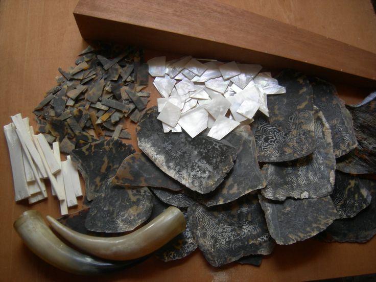 Osmanlı Ok kandili yapımı süslemede kullanılan malzemelerin hazırlığı