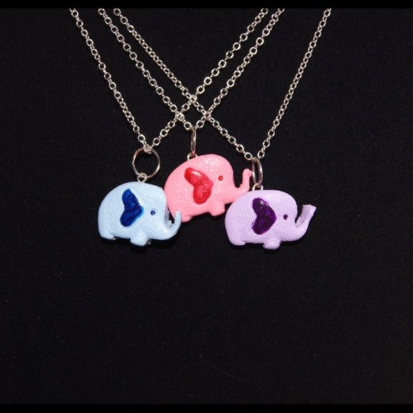 A best friend never forgets necklaces An elephant never forgets. But a best friend doesn't either & they have all the good info on you. Keep one & share the others with your friends! $15 for all 3. Theprettypenguin Jewelry Necklaces