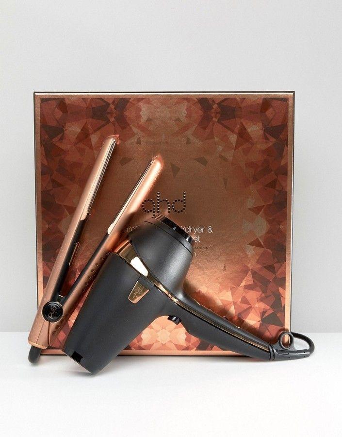 ghd - Copper Luxe Deluxe - Coffret cadeau - Fer coiffer en V et sche- cheveux