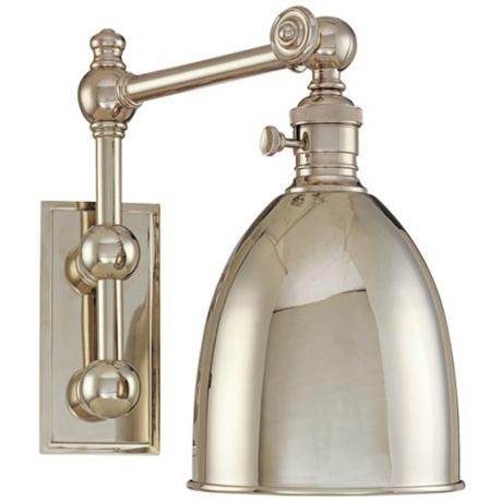 Monroe Polished Nickel Adjustable Wall Light for the bathroom makeover. Love!