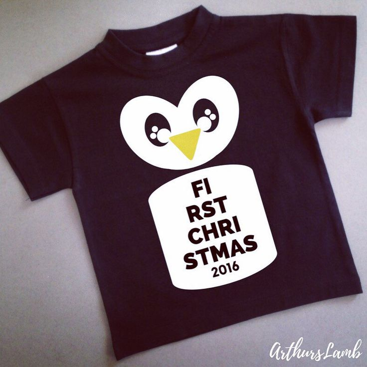 Who loves Penguins??  This cute first Christmas design is available in both short and long sleeved t-shirts and bodysuits.