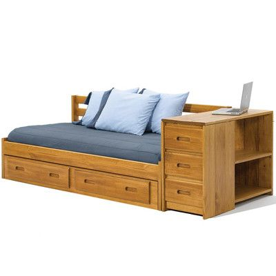 Daybed with Reversible End Storage and Underbed Storage - http://delanico.com/daybeds/daybed-with-reversible-end-storage-and-underbed-storage-589290267/