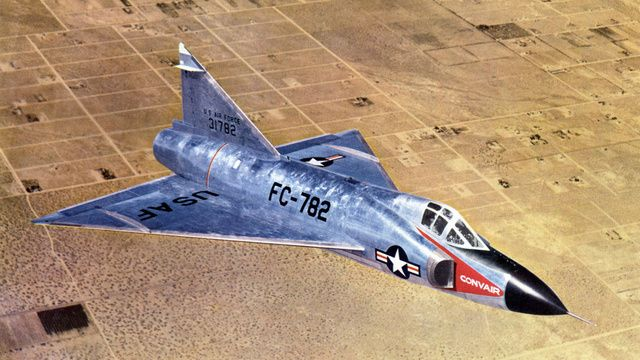 "The Convair F-102 ""interceptor"" was the first fighter to incorporate a tailless delta wing design anywhere in the world."