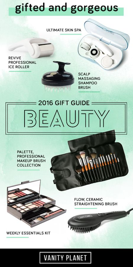 Check out our 2016 Gift Guide: Beauty edition and shop top picks on everything for beautiful skin and hair to nail care, makeup, and more!